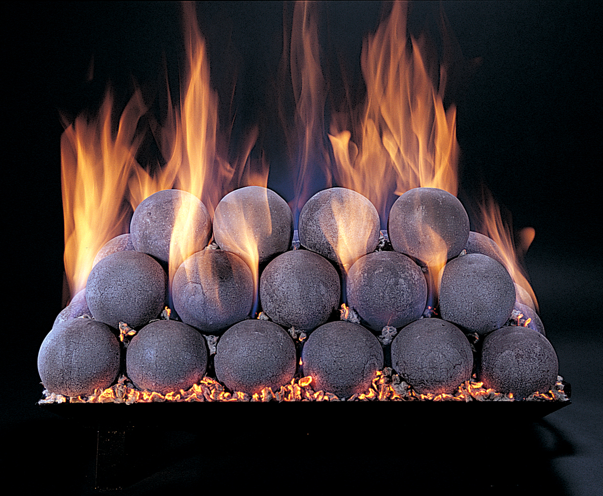 Rasmussen Fireballs - gas log sets - Modern & Contemporary Gas Log Sets Doctor Flue