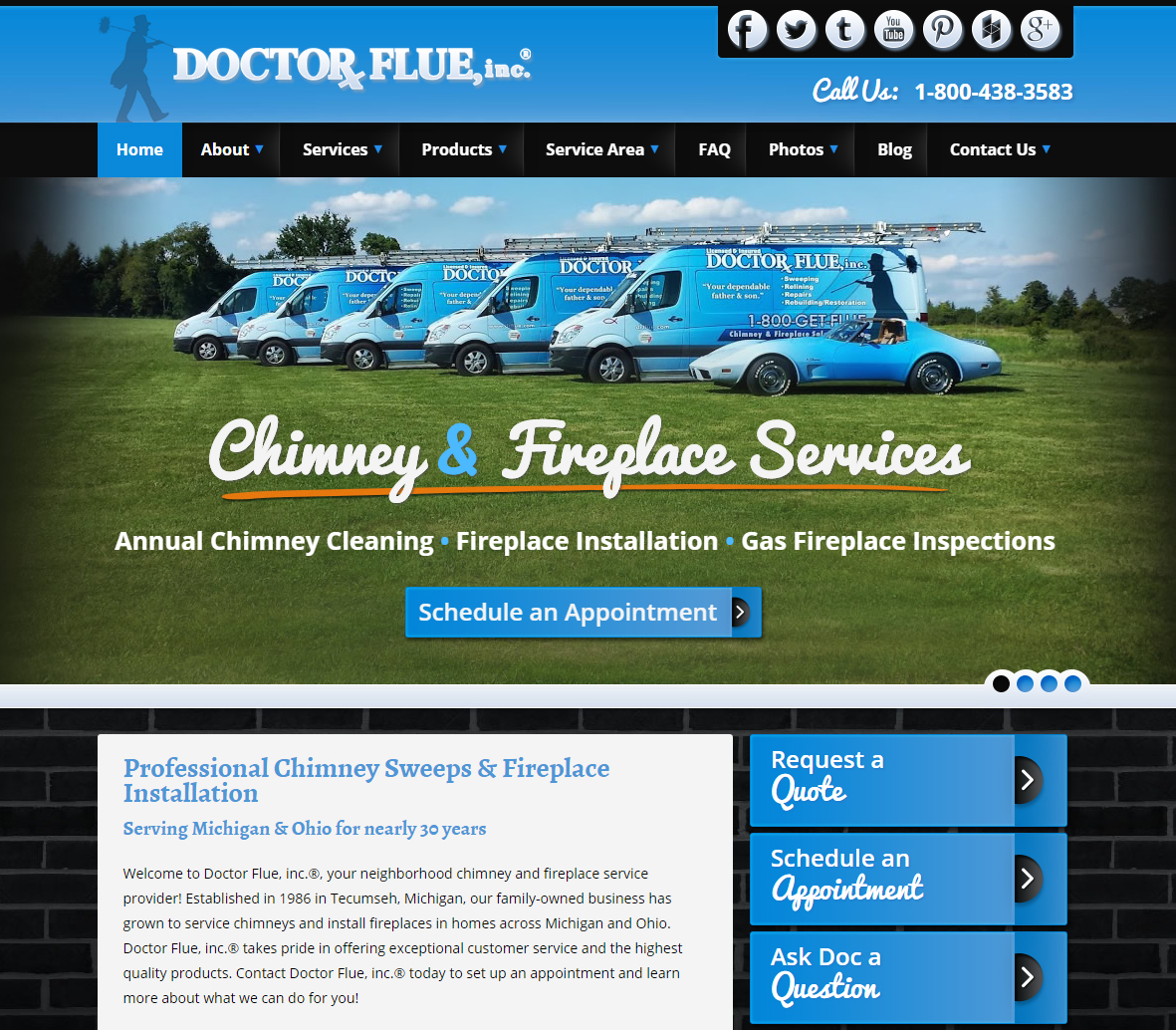 Tecumseh Chimney Sweep Recognized At Web Awards Doctor Flue