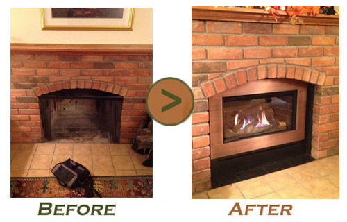 Fireplace Remodel Before And After Photo By Doctor Flue