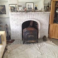 Wood Stove, Picture Before Installation