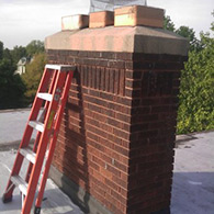 Before Copper Chimney Cap installation