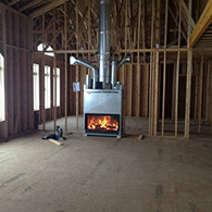 Doctor Flue installing a wood fireplace