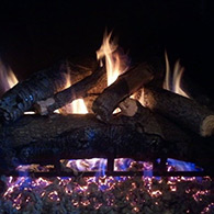 American Oak 24' Real Fyre Gas logs sold and installed by Doctor Flue