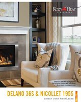 Contemporary Direct Vent Gas Fireplaces