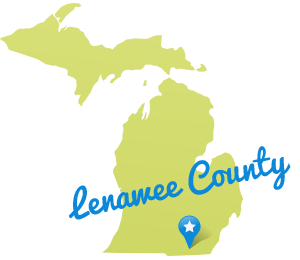 Map of Lenawee County, Michigan