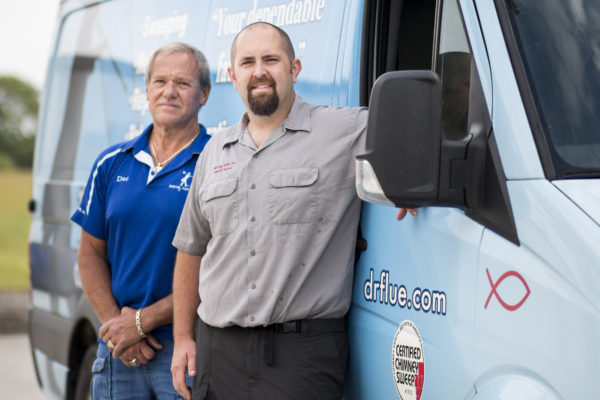 Doc (left) and Kevon (right) of Doctor Flue, inc.
