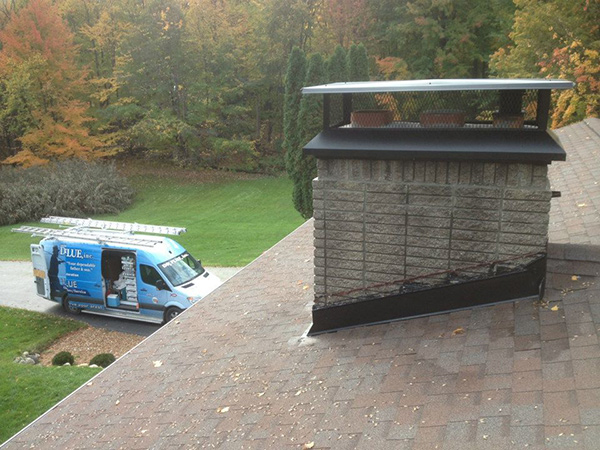 Doctor Flue serving a chimney in early fall.