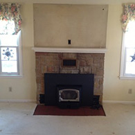 Fireplace, Picture Before Installation