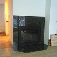 Gas Fireplace Installation, Before Picture