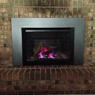 Converting an open inefficient fireplace to a high efficiency gas insert