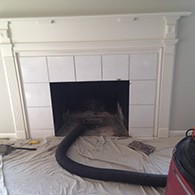 During the Process of Wood Fireplace Installation