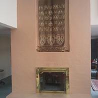BEFORE Masonry wood burning fireplace