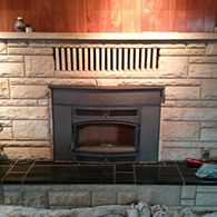 Lopi Cape Cod wood burning insert installed by Doctor Flue inc.