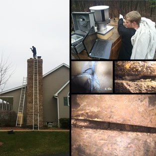 Dr. Flue uses innovative video equipment to inspect your chimney